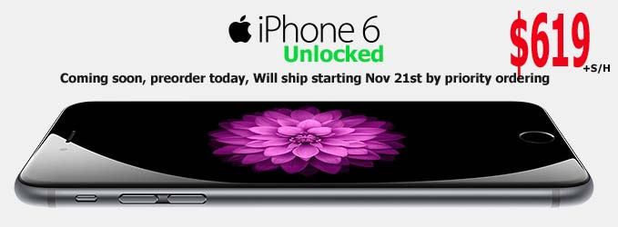 Preorder Iphone 6 at $619 Gurrantee to deliver before thanksgiving day