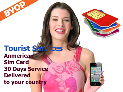 American Sim card delivered to your country ready to use upon your arrival to the States